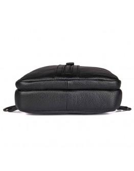 Черная сумка мужская рюкзак на одно плечо 74007A