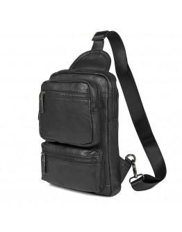 Рюкзак кожаный мужской, на одну шлейку 74011A