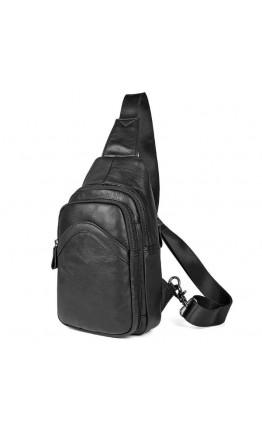Черный мужской рюкзак на одну шлейку 74013A