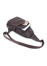 Коричневый мужской рюкзак, на одну шлейку 74013q