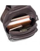 Фотография Коричневый мужской рюкзак, на одну шлейку 74013q