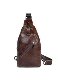Кожаный рюкзак для мужчин на одну шлейку 74014C