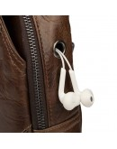Фотография Кожаный рюкзак для мужчин на одну шлейку 74014C