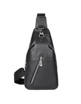 Черный мужской городской слинг на плечо 74016A