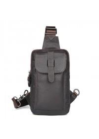Коричневый слинг мужской сумка на плечо 74017C