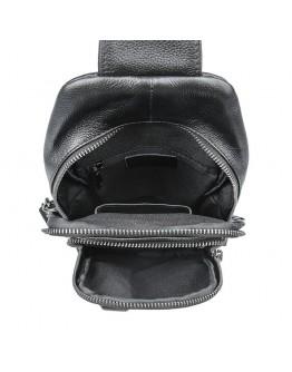 Мужской черный кожаный слинг 74019A