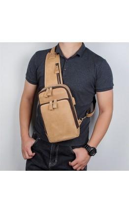 Коричневый винтажный мужской слинг 74024B