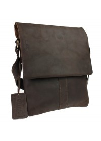Коричневая кожаная мужская сумка планшетка 74025-SKE