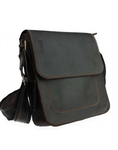 Фотография Кожаная мужская темно-коричневая сумка 741030S-SKE