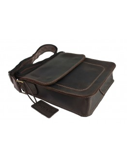 Кожаная мужская темно-коричневая сумка 741030S-SKE