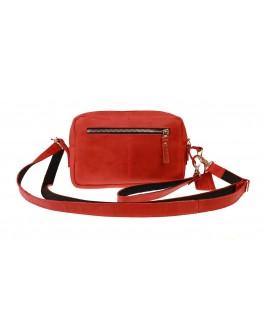 Красная женская кожаная небольшая сумка 741266-SKE