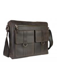 Коричневая кожаная мужская горизонтальная сумка 74140S-2-SKE