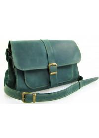 Женская зеленая кожаная сумка 74149-SGE