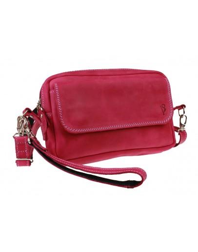 Фотография Женская кожаная небольшая сумка 742266-SKE