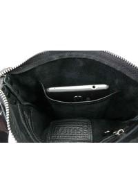 Черная мужская кожаная небольшая сумка - планшетка 74227-SKE