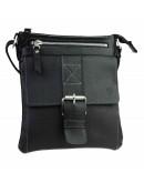 Фотография Черная мужская кожаная небольшая сумка - планшетка 74227-SKE