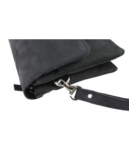 Кожаный черный мужской клатч из кожи crazy horse 74232K-A-SKE