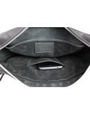Фотография Черная мужская кожаная горизонтальная сумка 74340S-2-SKE