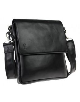 Кожаная мужская черная сумка через плечо 74433S-SKE