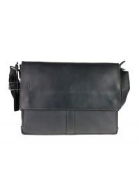Мужская черная кожаная горизонтальная сумка 7444AS-SKE