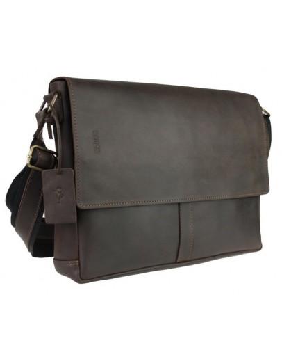 Фотография Кожаная мужская большая горизонтальная сумка 7444S-SKE