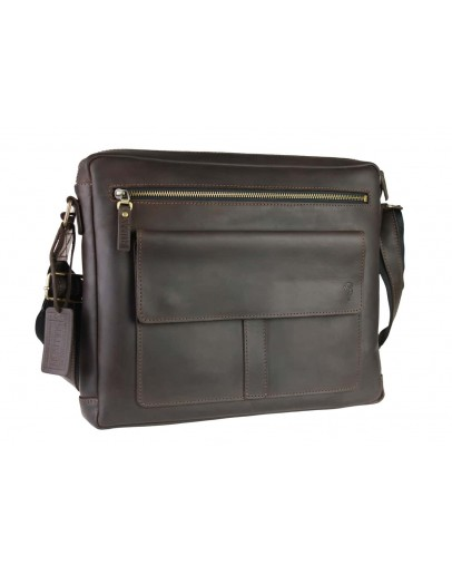 Фотография Коричневая большая мужская сумка на плечо 74540S-SKE