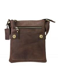 Кожаная коричневая планшетка на плечо 74625-SKE