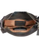 Фотография Мужская кожаная темно-коричневая сумка на плечо 74725-SKE