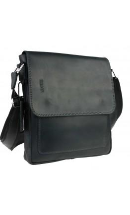 Кожаная черная мужская плечевая сумка 748038S-SKE