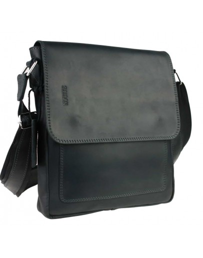 Фотография Кожаная черная мужская плечевая сумка 748038S-SKE