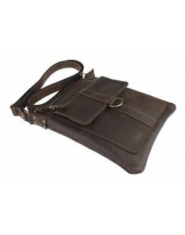 Кожаная темно-коричневая мужская сумка плншетка 748227S-SKE