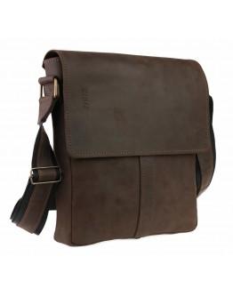 Мужская коричневая кожаная плечевая сумка 74930-SKE