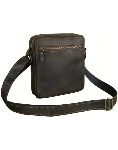 Фотография Небольшая городская коричневая сумка через плечо 751118-SGE