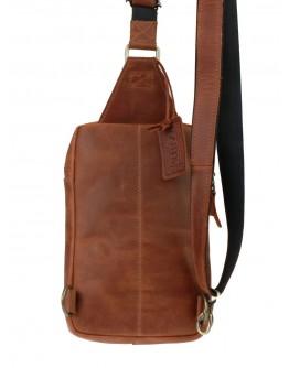Мужской винтажный коричневый кожаный слинг 7523892-SKE