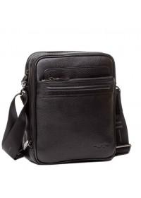 Удобный чёрный мужской кожаный мессенджер 75240a-1
