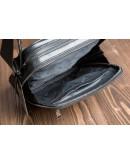 Фотография Удобный чёрный мужской кожаный мессенджер 75240a-1