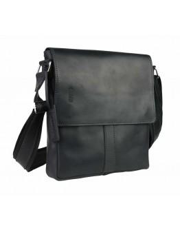 Черная кожаная сумка на плечо с клапаном 75330-SKE