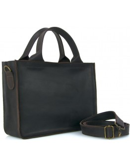 Темно-коричневая кожаная сумка для документов 755300W-SKE