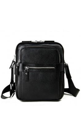Черная удобная повседневная плечевая мужская сумка 75610A