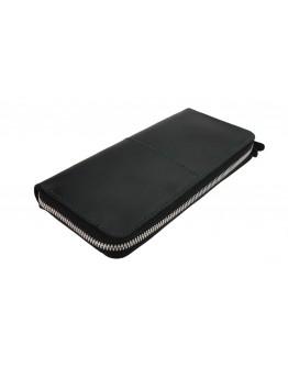 Черный мужской клатч-портмоне кожаное 7572195-SKE