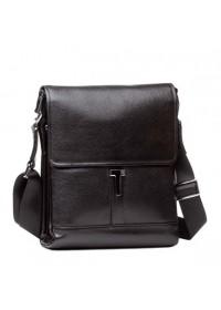 Чёрная мужская кожаная сумка через плечо 75803-1