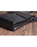Фотография Чёрная мужская кожаная сумка через плечо 75803-1