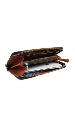 Светло-коричневый мужской клатч кожаный 7583195-SKE