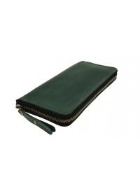 Зеленый мужской клатч кожаный 7593195-SKE