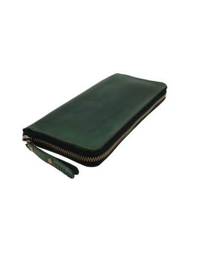 Фотография Зеленый мужской клатч кожаный 7593195-SKE