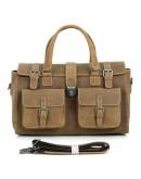 Фотография Большая коричневая мужская сумка кожаная 76001b