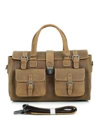 Большая коричневая мужская сумка кожаная 76001b