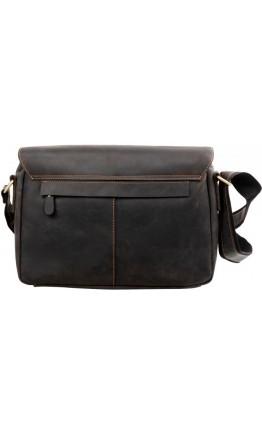 Мужская кожаная черная горизонтальная сумка 76002A-33