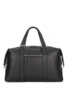 Кожаная черная мужская сумка для командировок 76007A