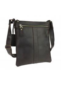 Коричневая сумка-планшетка через плечо 76022-SKE